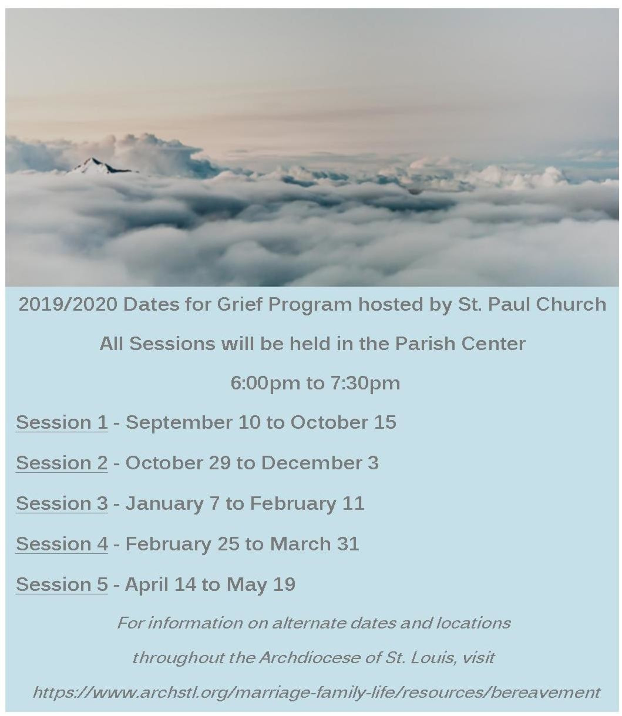 Grief Ministry Brochure Fall 2019 For Website