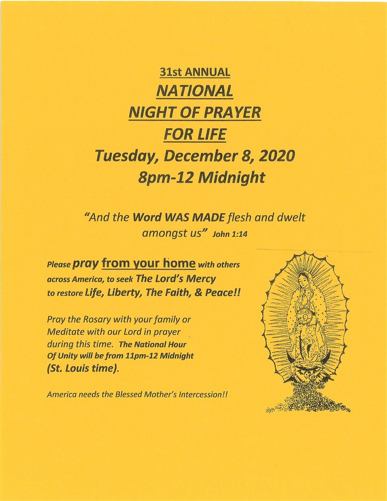 Nat Night Of Prayer 2020
