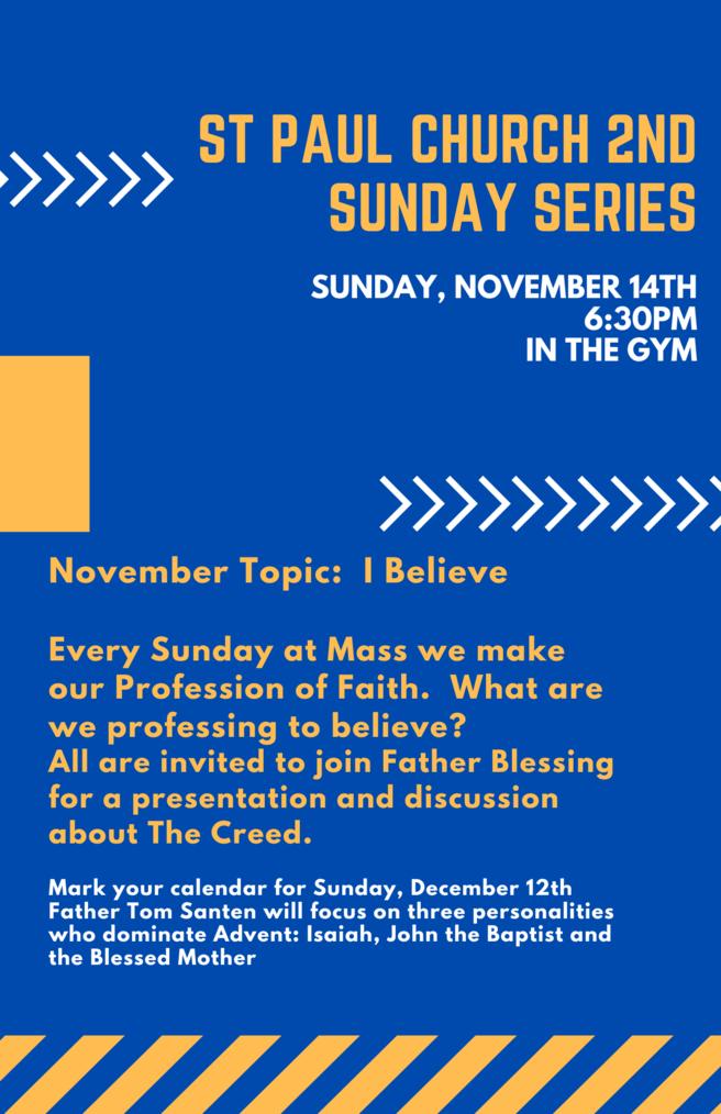 St Paul Church 2nd Sunday Series 2 1