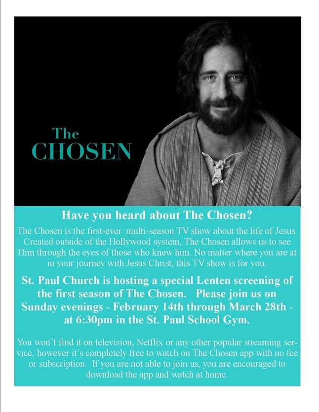 The Chosen Flyer Lent2021